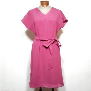 3/$25 Talbots fuschia v-neck shift dress belt 4 SM